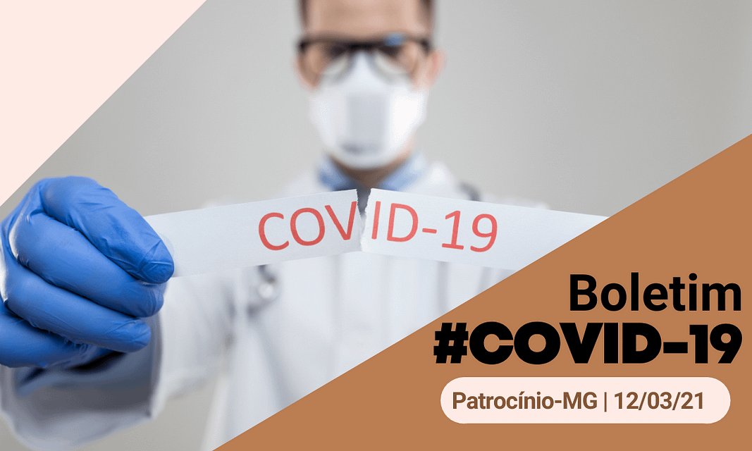 3 óbitos confirmados e 42 novos casos de covid-19 em Patrocínio, no boletim de sexta (12)